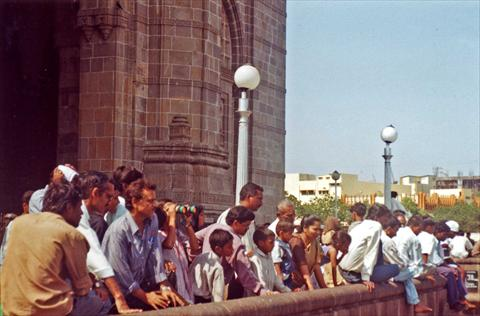 Men at the Gateway of India