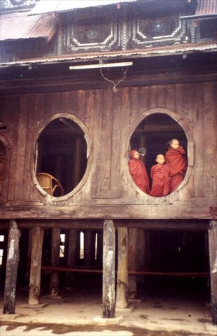 Monks through the window