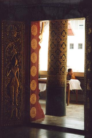 Boy behind the pillar