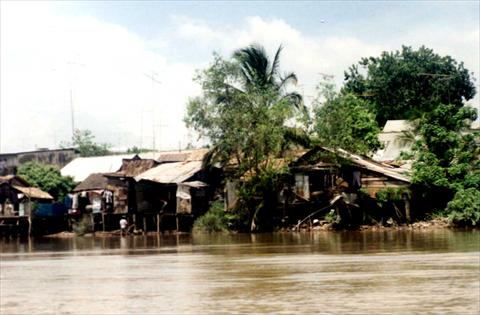 Huts at the river