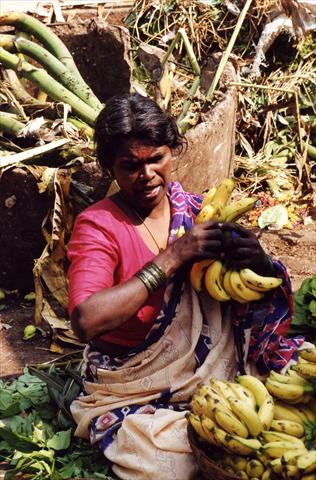 Woman with bananas