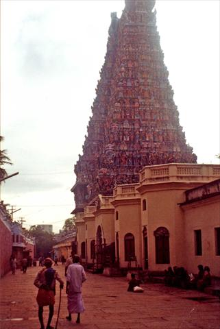 On the temple premises